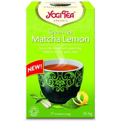 Yogi bio zöld tea matcha-citrom 17 db